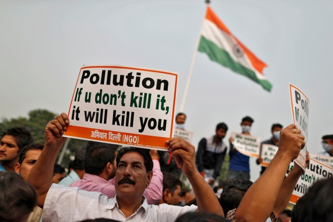 Pollution protest