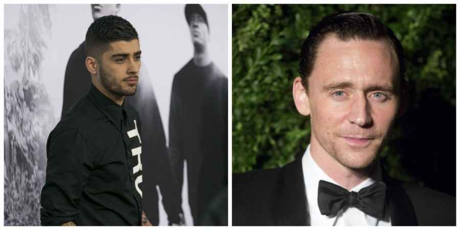Zayn Malik and Tom Hiddleston