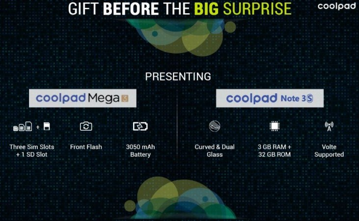 Coolpad Note 3S, Mega 3 launched in India; price, specifications