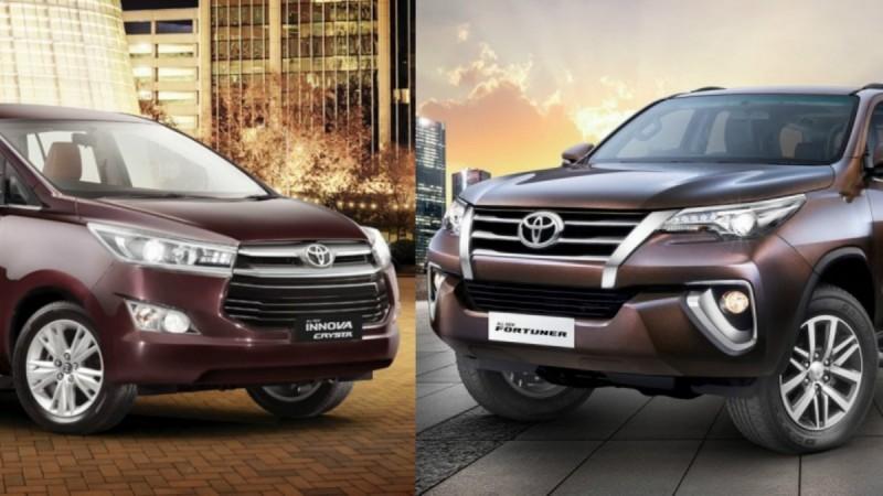 Toyota Innova Crysta, Toyota Fortuner