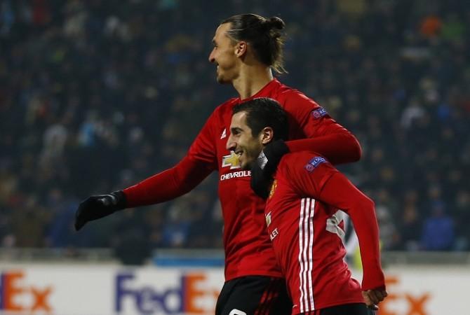 Zlatan Ibrahimovic Henrikh Mkhitaryan Manchester United
