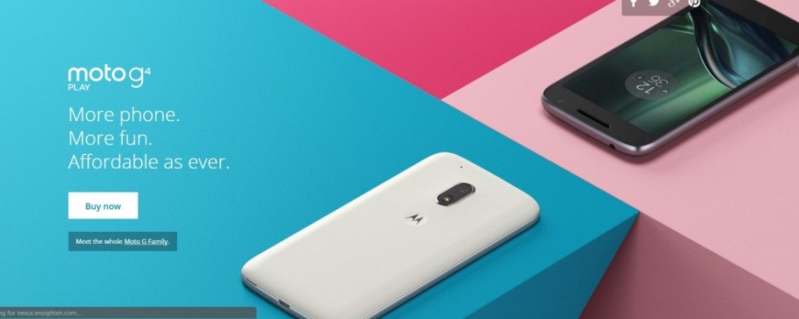 Motorola Moto G4 Play receives huge price-cut; available at $99: At a time when Android Nougat starts seeding to Moto G4 Plus