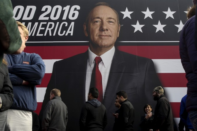 Kevin Spacey, Chief Whip and protagonist, in Netflix's House of Cards