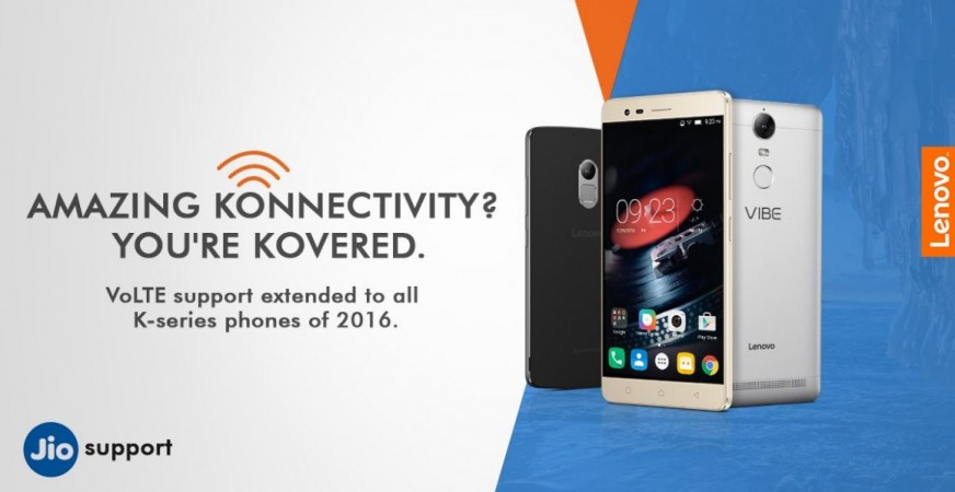 Reliance Jio Happy New Year offer effect: More Lenovo K phones get VoLTE support [list of devices eligible for unlimited internet]