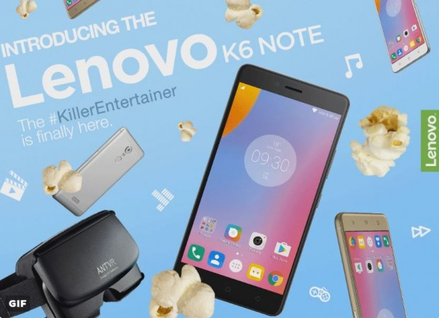 Metal-clad Lenovo K6 Note with Qualcomm Snapdragon 430 SoC launched