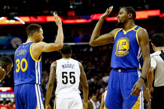 026fef65e98e Stephen Curry and Kevin Durant will be looking to continue their impressive  run for the Golden