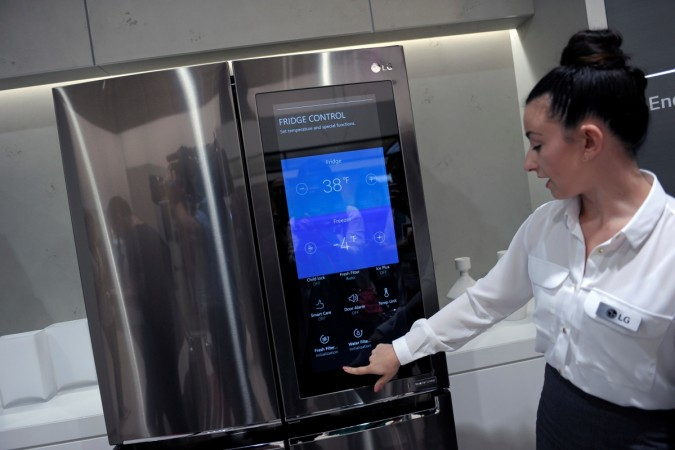 Smart home refridgerator by LG at the IFA Electronics show