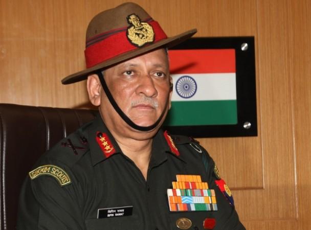 Lt. Gen. Bipin Rawat in New Delhi on Sept 1, 2016.