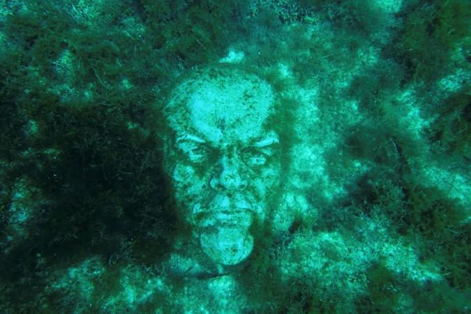 Vladimir Lenin underwater statue