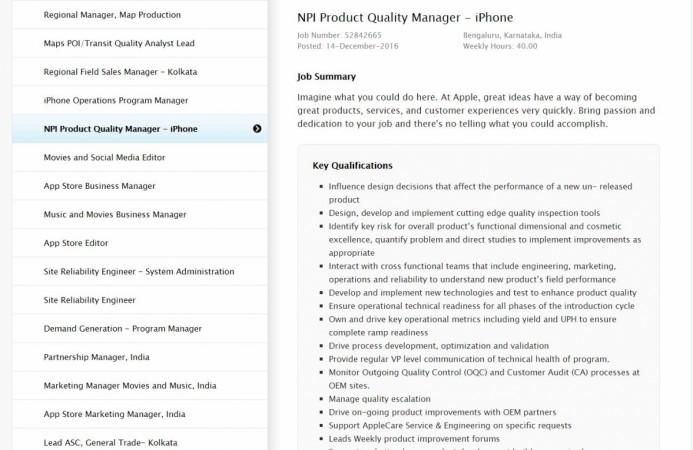 Apple iPhones, make in India, iPhones in India, Apple India job portal