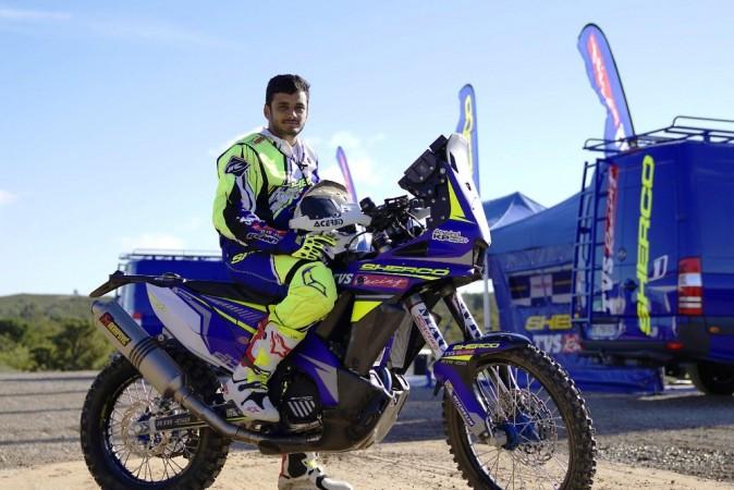 Aravind KP of Sherco TVS rally team