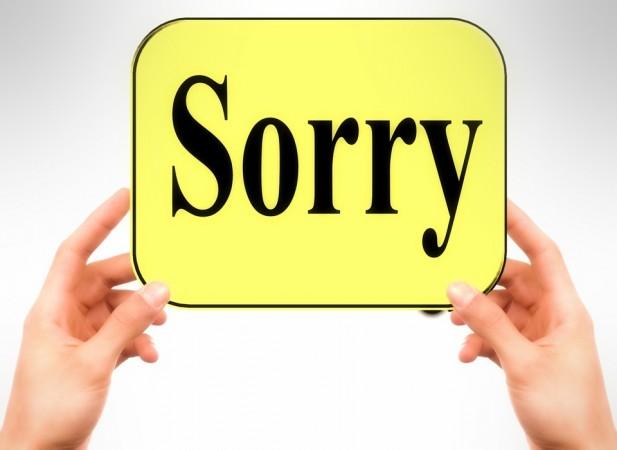politicians apology, apologise