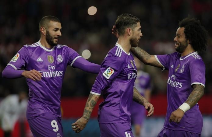 Karim Benzema, Sergio Ramos, Marcelo, Real Madrid, Sevilla