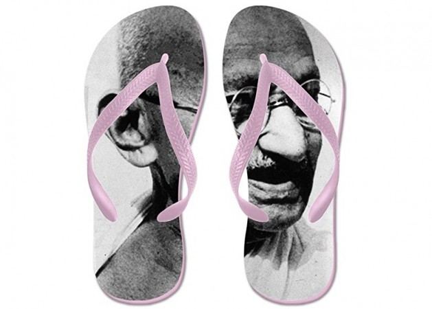 'Gandhi flip flops' imprinted with Mahatma Gandhi's face