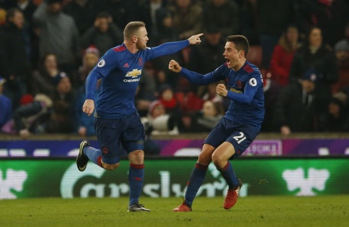 Wayne Rooney, Ander Herrera, Manchester United, Stoke City, Premier League