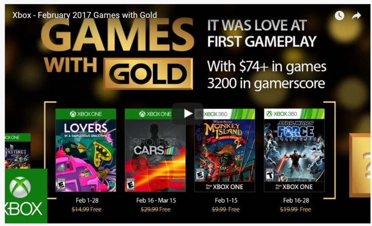 Free Xbox Live Games With Gold For February 2017 In A