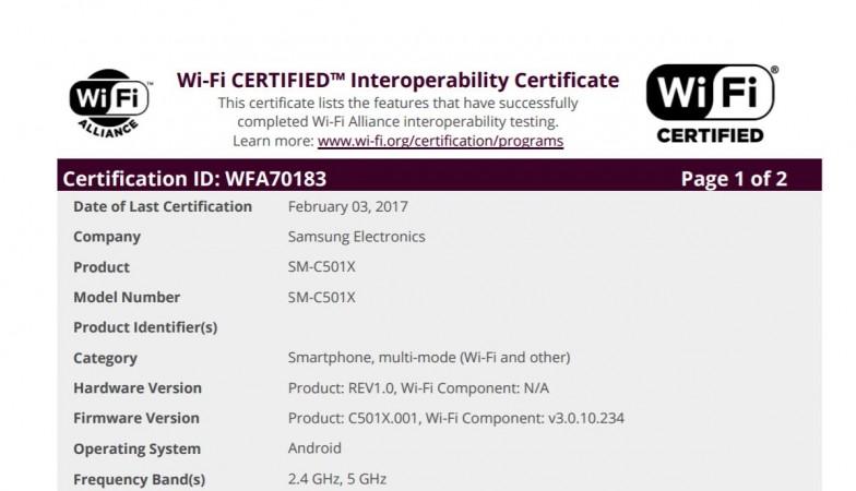 Samsung, Galaxy C5 Pro, Wi-Fi Alliance, certifications, global launch, Galaxy C9 Pro