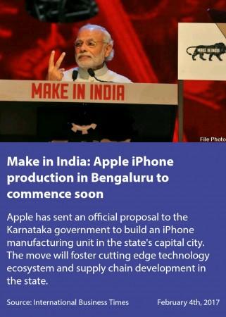 Narendra modi, mobile app, Make in India, Apple, iPhones, Bengaluru, Karnataka