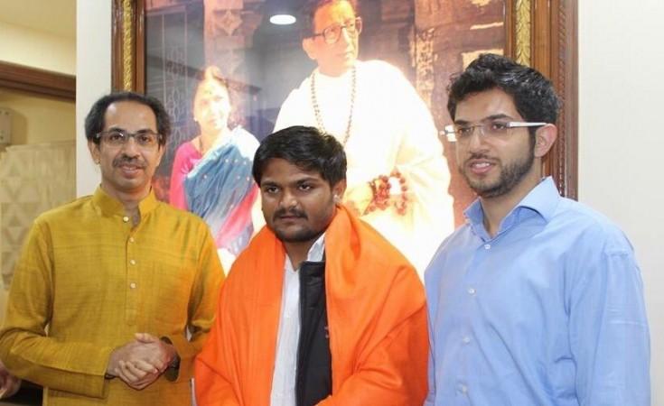 Hardik Patel, Uddhav Thackeray and his son Aditya