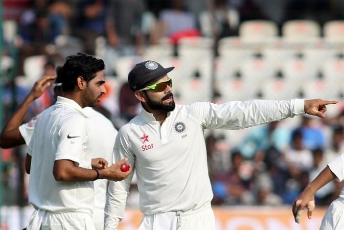 Bhuvneshwar Kumar, Virat Kohli, India, Bangladesh, Test cricket