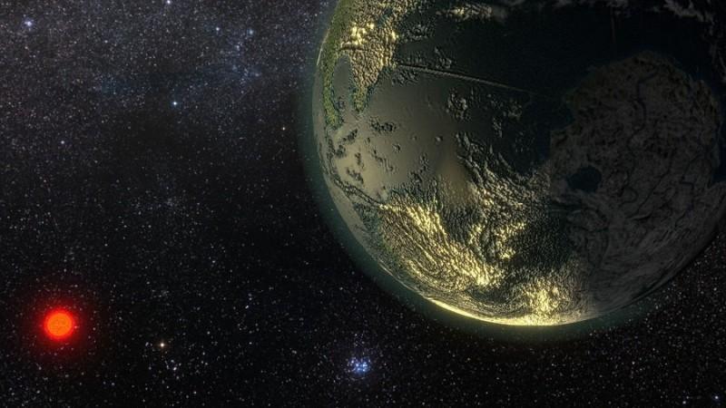 star GJ 411, Earth, Sun, space,