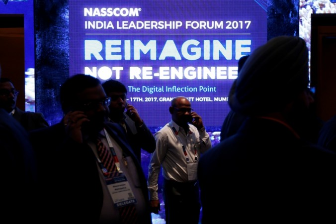 nasscom summit, nasscom fy2018 projection, nasscom india leadership forum, indian it companies, h1 b visa rules, infosys, tcs, wipro