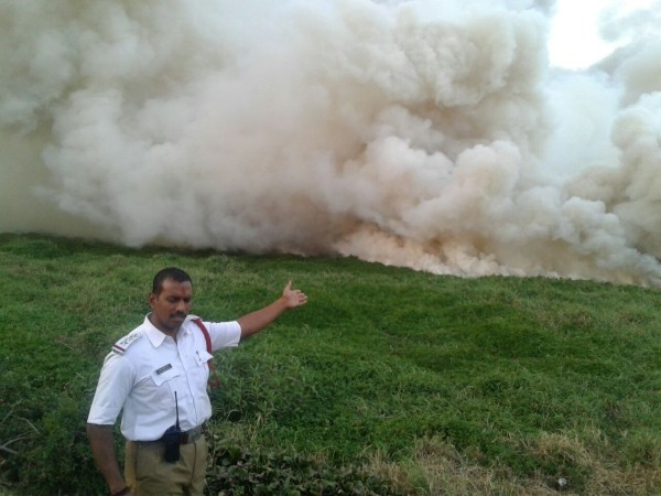Bellandur lake on fire