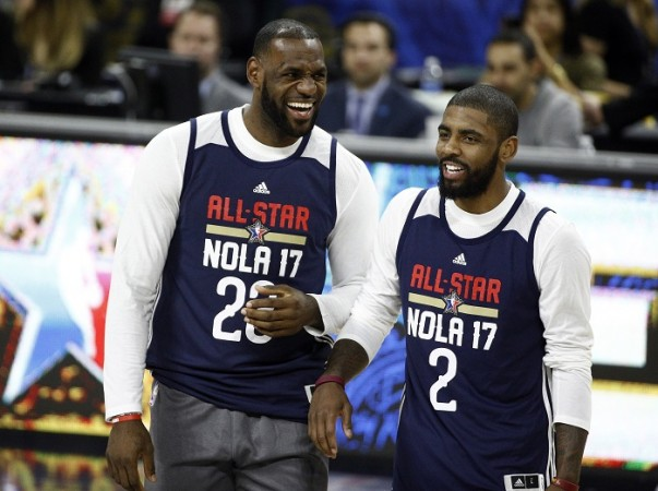 LeBron James  Kyrie Irving, NBA All-Star game, NBA All-Star 2017, East vs West