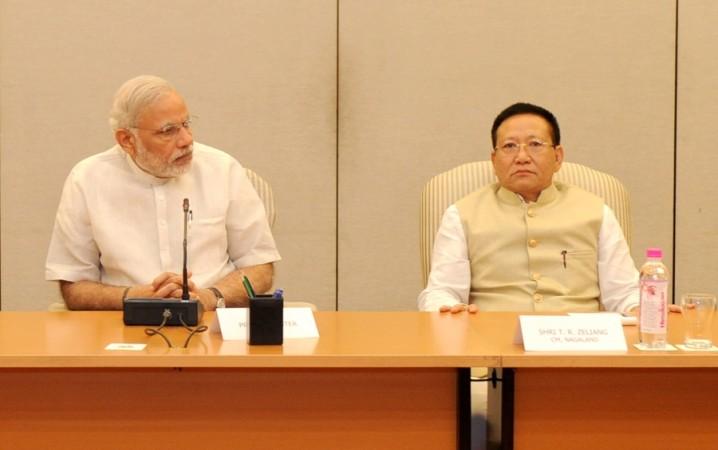 TR Zeliang and Narendra Modi