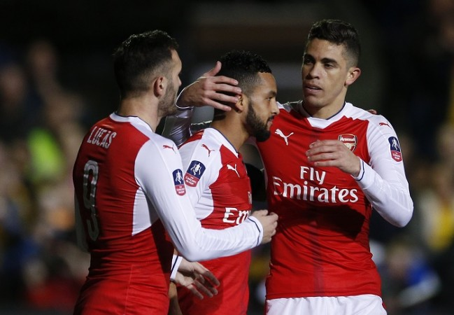 Lucas Perez, Theo Walcott, Gabriel, Arsenal, FA Cup, Sutton United, 5th round