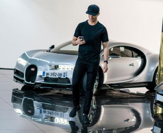 Christiano Ronaldo with Bugatti Chiron