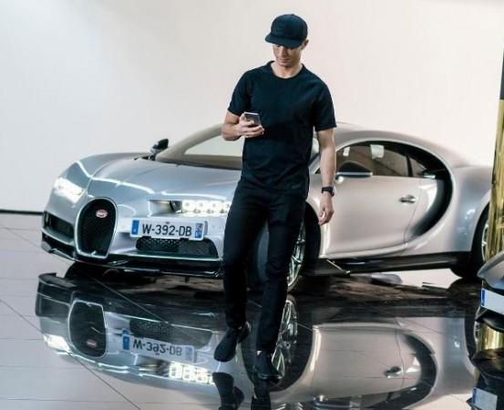 Christiano Ronaldo with Bugatti Chiron