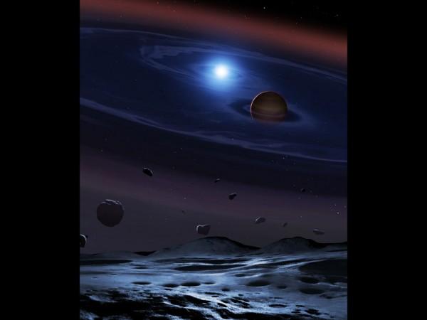 exoplanet,planetary system, white dwarf, brown dwarf, space,
