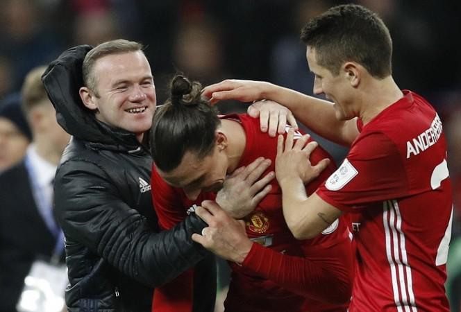 Wayne Rooney, Zlatan Ibrahimovic, Ander Herrera, Manchester United
