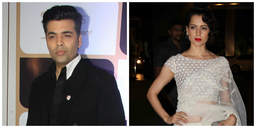 Karan Johar and Kangana Ranaut