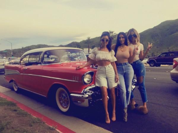 Kourtney, Kim and Khloe Kardashian