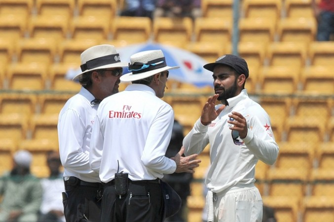 Virat Kohli, India vs Australia second Test, DRS, Nigel Llong, Steve Smith