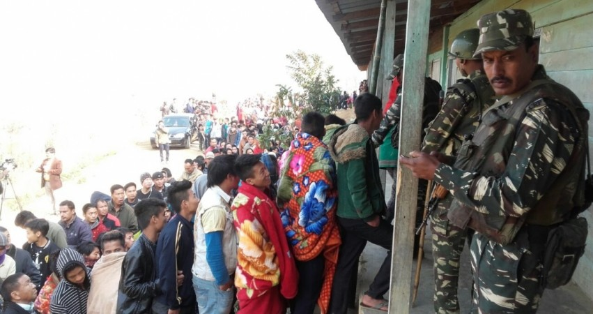 Manipur Assembly Elections 2017: People in queue to vote