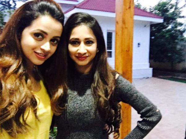 Bhavana with Manvitha Harish
