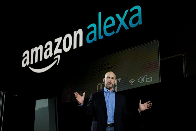 Mike George, VP Alexa, Echo and Appstore for Amazon at a press conference
