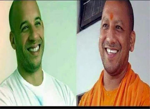 Yogi Adityanath and Vin Diesel