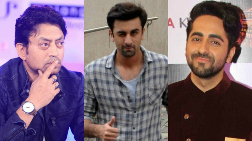 Irrfan Khan, Ranbir Kapoor, Ayushmann Khurrana