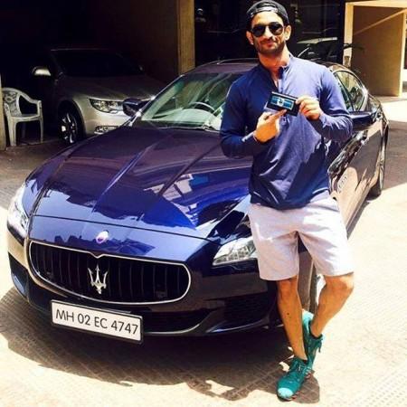 Sushant Singh Rajput with his Maserati Quattroporte