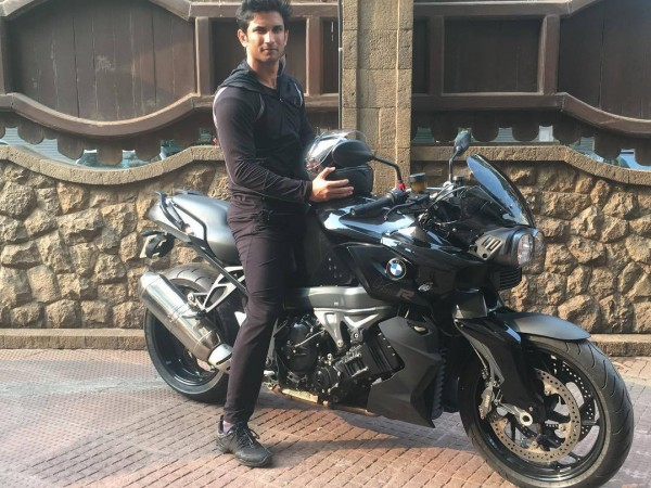 Sushant Singh Rajput with his BMW K 1000 R