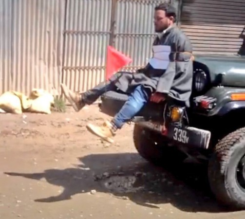 Kashmiri man tied to Indian Army jeep