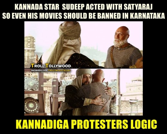 Baahubali 2 fans troll Kannada protestors over the ban call on SS Rajamouli's film