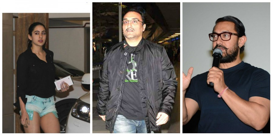 Sara Ali Khan, Aditya Chopra and Aamir Khan