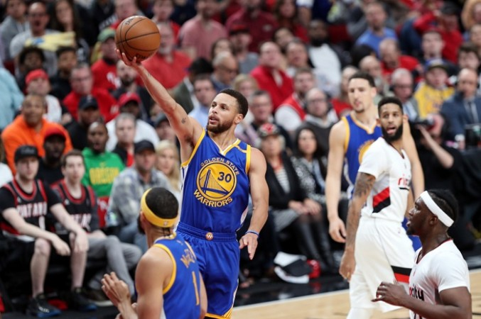 Stephen Curry, Golden State Warriors, NBA, Playoffs, Game 4, Portland Trail Blazers