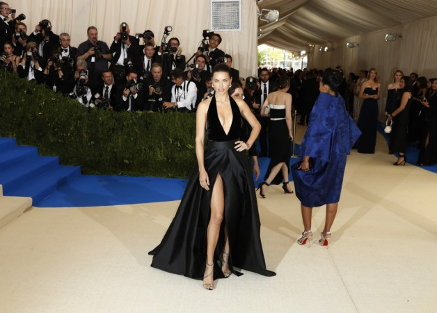 8cf0a7fad2ad Adriana Lima accidentally flashes her intimates in thigh-high slit ...