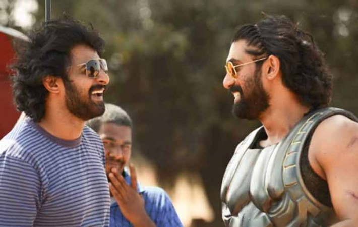 Prabhas on Baahubali 2 sets